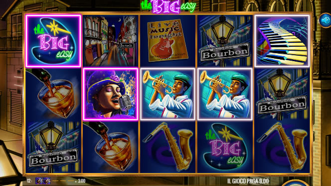 The Big Easy Slot Machine Panoramica