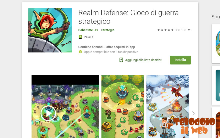 Tower defence Android